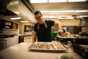Chef Danny St Pierre has fun in the Devour workshops. Photo credit : Ashley Brown