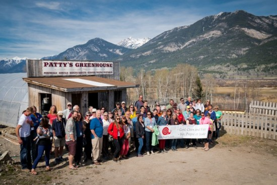 Slow Food in Canada – 2016 National Summit, Food Tour of farms in the Upper Columbia Valley - Patty's Greenhouse and Market Garden farm, Brisco, BC