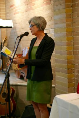 Poet Katherine Lawrence reading
