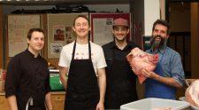 Atelier de boucherie à l'école secondaire Edward Milne avec Wild Mountain